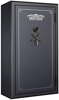 Heritage Security Products 64-Gun Fireproof and Waterproof Safe with Electronic Lock, Black 64EBH
