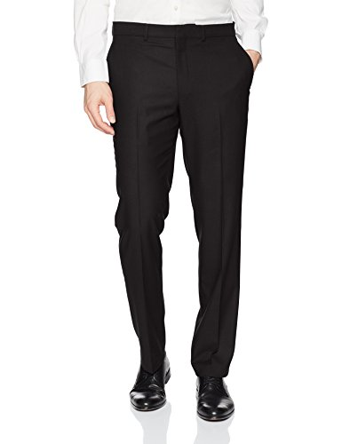 Kenneth Cole REACTION Men's Techni-Cole Stretch Slim Fit Suit Separate Pant (Blazer,  and Vest), Black, 28X32