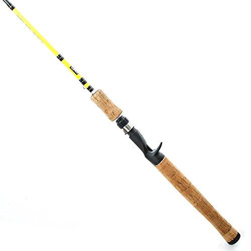 Entsport Color Fish 1-Piece Casting Rod Fast Bass Fishing Rod 24 Ton Carbon Fiber Baitcasting Rod 6-Feet Inshore Baitcaster Rod Medium Freshwater Baitcast Bait Cast (6′- Medium Light- 1pcs- Yellow) Review