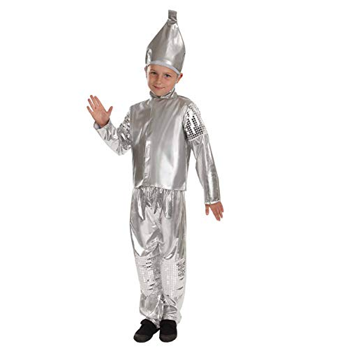fun shack FNK3878XL-US Kids Tin Boy Costume Classic Storybook Movie Character Outfit - X-Large ()