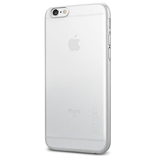 iPhone 6S Hülle, Spigen® [Air Skin] UltraSlim [Soft Clear] Dünn Federleicht FeinMatt Handyhülle / Lichtdurchlässig Semi-Transparent Maßgeschneiderte Form & Perfekter Sitz Hardcase / Passgenau Premium