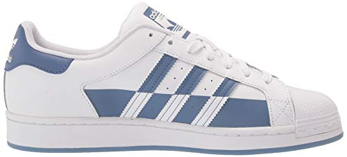 adidas Originals mens Superstar White/Crew Blue/White 4.5