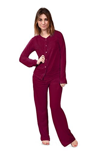 Women's Pajama Sleep Set Bamboo Pajamas (Natures Bliss) Eco-Friendly Comfortable (XL, Carmine)