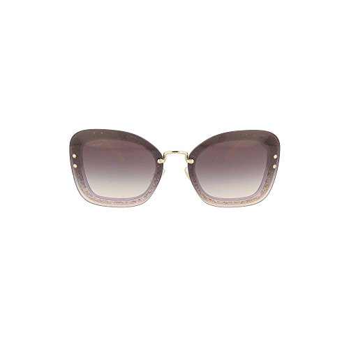 Miu Miu Women's Reveal Glitter Sunglasses, Transparent Violet/Pink Violet, One - Sunglasses Miu Glitter Miu
