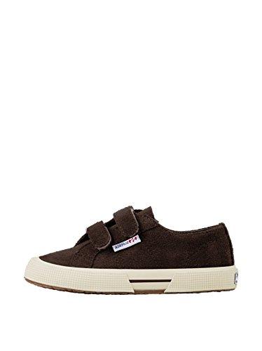 Superga 2950 Suvj Velcro - Zapatillas de tela Niños^Niñas Dark Chocolate