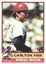 1976 Topps Regular (Baseball) Card# 365 Carlton Fisk of the Boston Red Sox Ex Condition by Topps