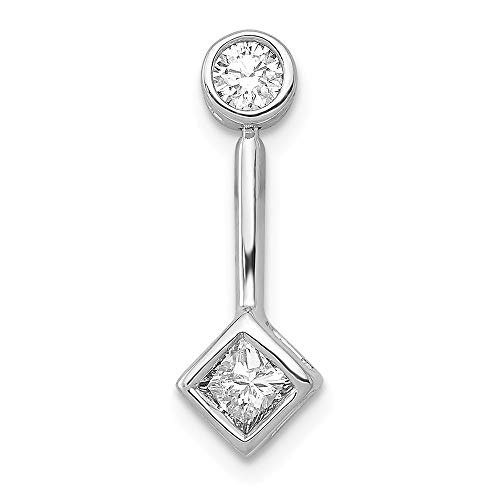 14k White Gold 1/4-Carat Diamond Slide Pendant from Roy Rose -