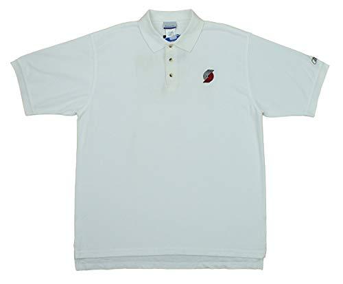 Reebok Portland Trail Blazers NBA Mens PlayDry Polo Shirt, White (X-Large, White)