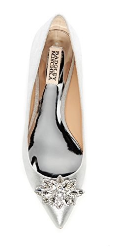 Badgley Mischka Karina Womens Dress Shoes, Flat (Size 8) Silver