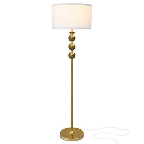 Brightech Riley – Free Standing Boho Floor Lamp – Tall Pole Light for Living Room Or Bedroom- Mid Century, Modern…