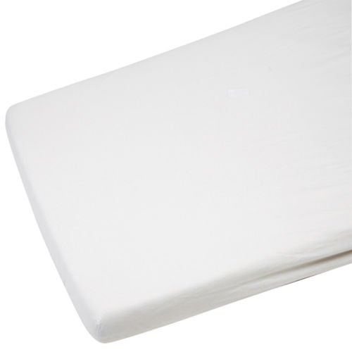 2x Cot Bed Jersey Fitted Sheet For Toddler 100% Cotton 140x70cm White For-Your-Little-One