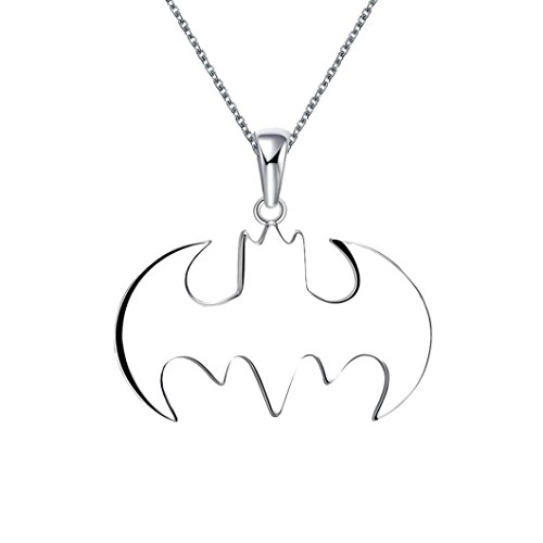 Botrong Batman Silver Necklace Best Gift for Friends Steampunk Jewelry