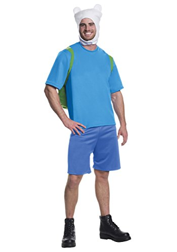 Men's Adventure Time Deluxe Finn Costume, Multicolor, X-L...