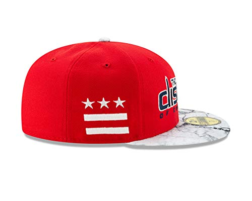 7744d5ffa1033b Amazon.com : New Era Washington Wizards NBA Earned Edition 5FIFTY Fitted Hat  - Red/White : Clothing