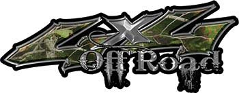 Off Road Twisted Series 4x4 Truck Bedside or Fender Emblem Decals in Camouflage (Atv Camo Fenders)