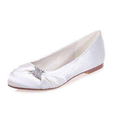 Noche Más US11 Zapatos amp;Amp; Bodas Disponibles UK9 Colores Satén Toe Parte Round EU43 Flats Plano Talón De Zapatos CN44 De Mujer qn1P67
