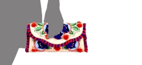 TORY BURCH flap clutch embroidered Women's floral rzCWrnqP
