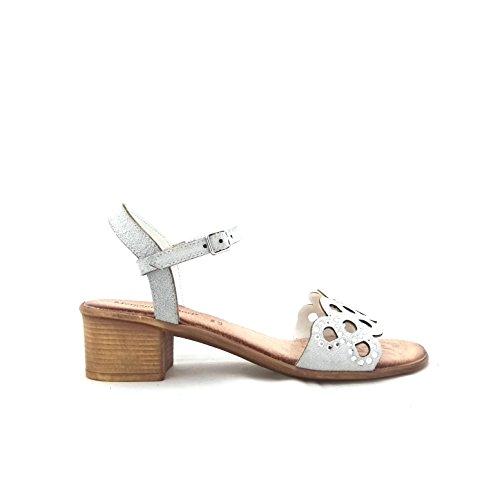 Mercante di Fiori Vmz 45966 - Sandalias de vestir de Piel para mujer blanco Bianco