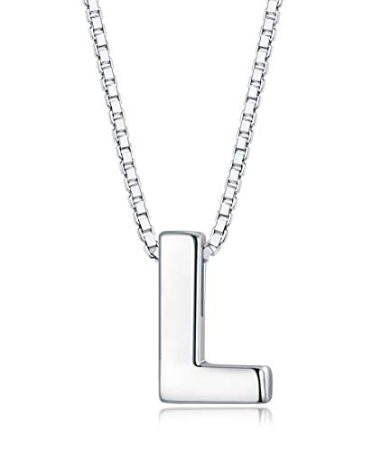 - Sllaiss Tiny Initial Letter Pendant Necklace Men Women 925 Sterling Silver A-Z Charm Necklace Alphabet Name Jewelry