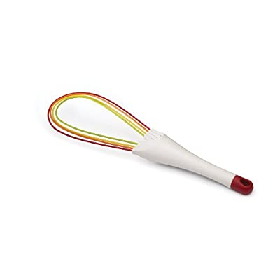 Joseph Joseph Twist 2-in-1 Silicone Whisk, Multi-Colored