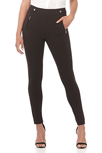 Rekucci Women's Secret Figure Pull-On Knit Skinny Pant (2,Brown) ()