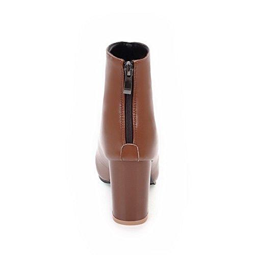 Balamasa Mujeres Fashion Slip-resistant Botas De Uretano Sólido Abl10321 Marrón