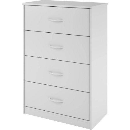 Mainstays 4 Drawer Chest - 4-Drawer Dresser (White Stipple)