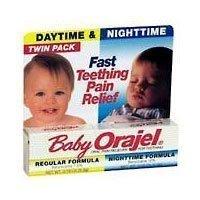 Bébé Orajel jour et la nuit Twinpack Pour Teething rapide Pain Relief 0,18 oz / Chaque