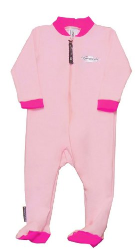 Stingray Australia Baby Sun Suit with Feet - UV Sun Protection Sunsuit for Infants (12-24 months, Pink) ()