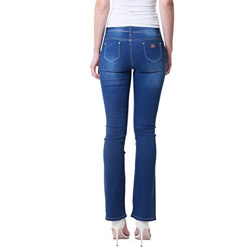 f3239e866e Azul Boot Cut Pantalones Vaqueros Mujer Para Bestyledberlin x0EBYwqC