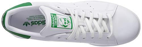adidas Originals Men's Stan Smith Shoes Sneaker, White/White/Dark Blue, 14.5