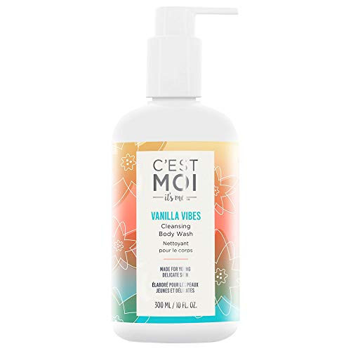 (C'est Moi Vanilla Vibes Cleansing Body Wash | Lightly Foaming Formula made with Aloe, Calendula, Cucumber Extract and Avocado Oil, Gentle Cleanser, Hydrating, Refreshing, Clearing, 10 fl oz.)