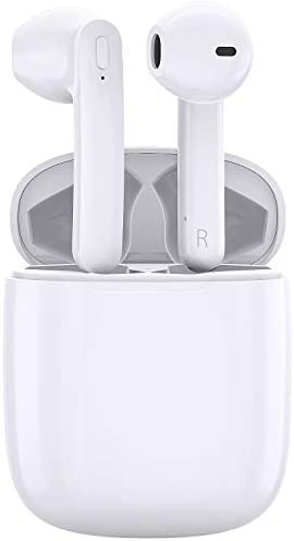 HiGoing Wireless Earbuds, TWS Bluetooth 5.0 Earbuds in Ear with Charging Case, Ergonomic Light Hi-Fi Stereo True Wireless Earbuds W/Mic for Work, Sport, Travel, Waterproof, 35H Play, Noise Cancelling