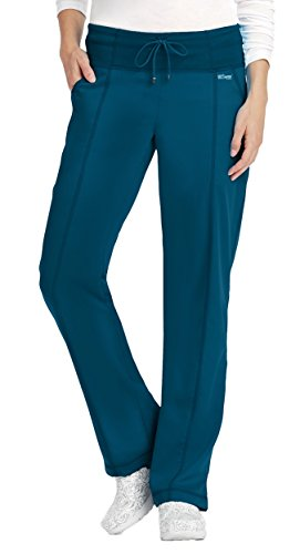 Active by Grey's Anatomy Women's Drawstring Yoga Scrub Pant Medium Bahama