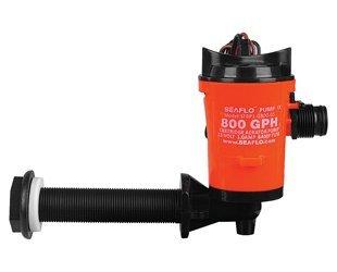 SEAFLO 12v 800gph Livewell Live Bait Tank Aerator Submersible Cartridge Boat Bilge Pump