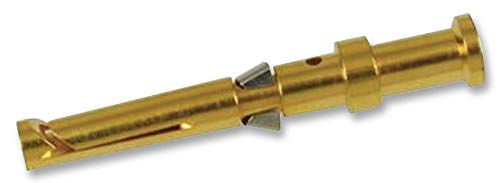 09 15 000 6225 - Rectangular Power Contact, Han D Series, Gold Plated Contacts, Copper, Socket, Crimp RoHS Compliant: Yes, (Pack of 20) (09 15 000 6225)