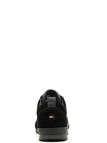 Tommy Hilfiger M2285axwell 11c1, Sandalias con Plataforma para Hombre, Azul Oscuro, 40 EU Negro