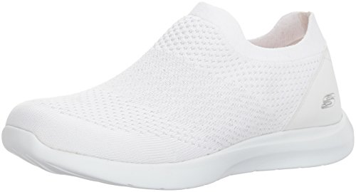 Image of the Skechers Women's Studio Comfort-Premiere Class Sneaker,White/Silver,9 M US