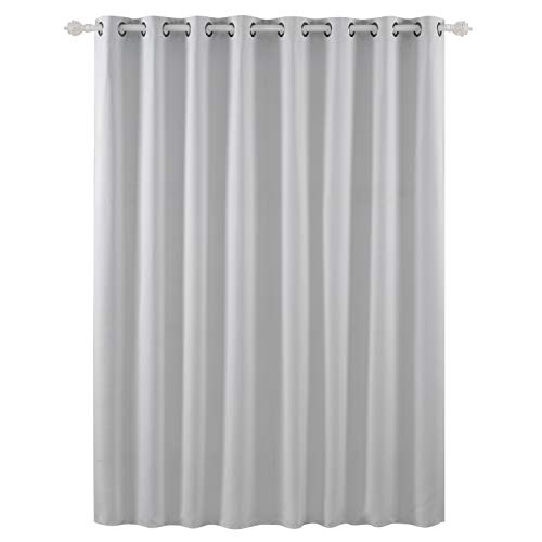 Deconovo Blackout Room Darkening Thermal Insulated Wide Panel Curtains for Bedroom 100 x 84 Inch Platinum 1 Panel -