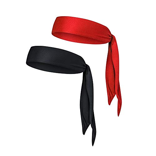 EINSKEY Sports Headband Head Tie 2-Packs Quick-Drying Sweatband for Men/Women Running Basketball Tennis Karate Yogo Athletics & Pirates Costume Accessories]()