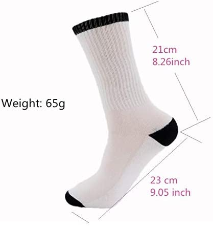 DaCrew Math Lesson Unisex Novelty Crew Socks Ankle Dress Socks Fits Shoe Size 6-10