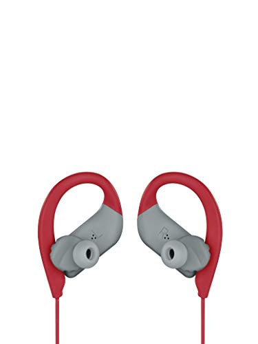 JBL Endurance Sprint by Harman Waterproof Wireless in-Ear Sport Headphones with Touch Controls (Red) 2021 August Wireless Bluetooth Streaming Comfortable with FlexSoft ear tips and TwistLock technology 8 hours of wireless playback under optimum audio settings with Speed Charge battery
