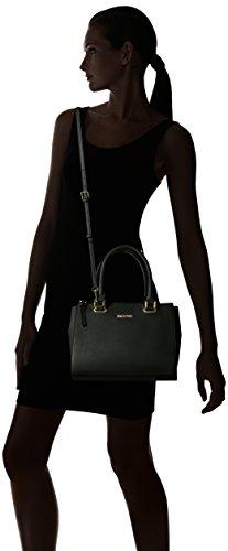 Calvin Klein Key Item Small Mercury Saffiano Top Zip Satchel, Black/Gold by Calvin Klein (Image #6)