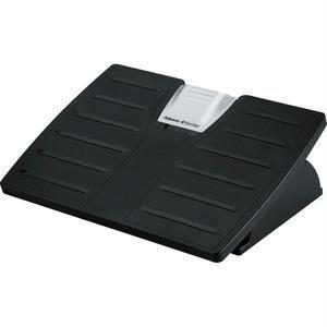 Adjustable Locking Footrest w/Microban, 17-1/2 x 13-1/8 x 4-3/8, Black/Silver ()