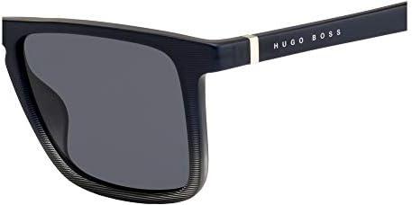 Hugo Boss lunettes de soleil 1082//S 807 QT Shiny Black Gris Vert