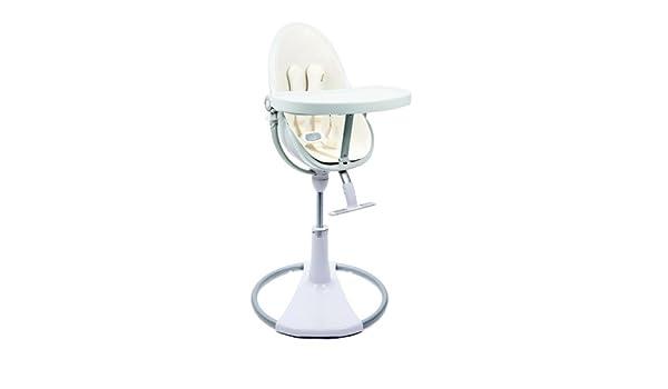 Stupendous Amazon Com Bloom White Fresco Chrome High Chair In Coconut Machost Co Dining Chair Design Ideas Machostcouk