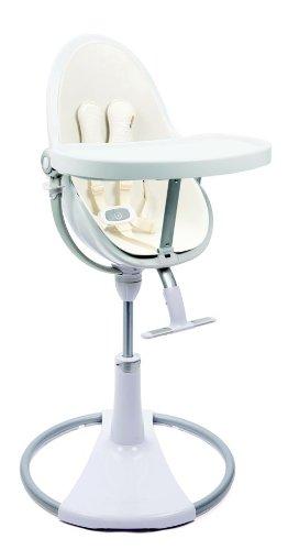 Fabulous Amazon Com Bloom White Fresco Chrome High Chair In Coconut Machost Co Dining Chair Design Ideas Machostcouk