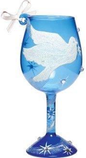 Lolita Mini Wine Peace On Earth Ornament - Retired - Wine Martini New Love ORN5-5565E