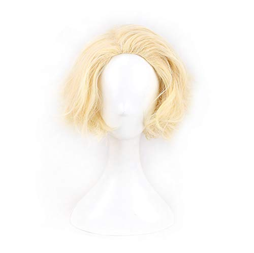 (Women's Short Curly Blonde Cosplay Wig Halloween Wig for)