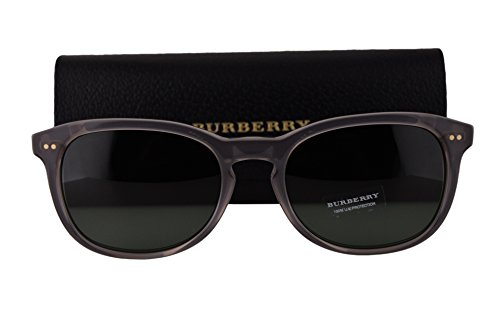 Burberry BE4214 Sunglasses Smoke Gray w/Gray Green Lens 355271 BE 4214 by BURBERRY